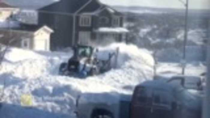 When the plow is having a hard time you know it was a big storm