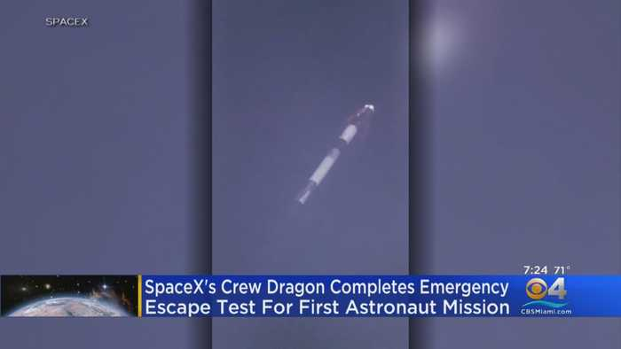 SpaceX Crew Dragon Completes Emergency Escape Test For 1st Astronaut Mission