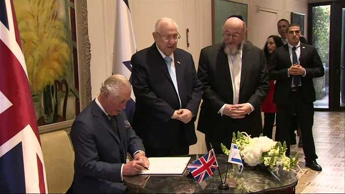 Prince Charles plants tree with President Reuven Rivin