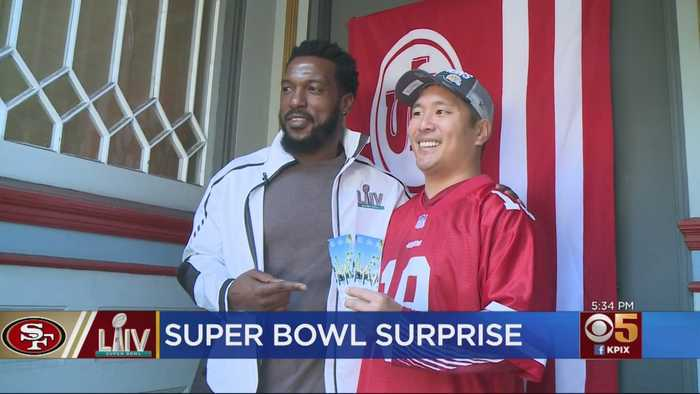 Surprised 49er Fan Wins Tickets To Super Bowl LIV