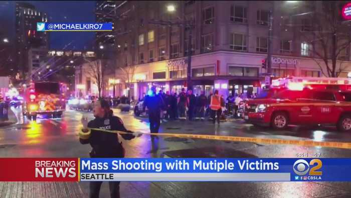 9-Year-Old Among Multiple Victims In Downtown Seattle Shooting; Suspect At Large