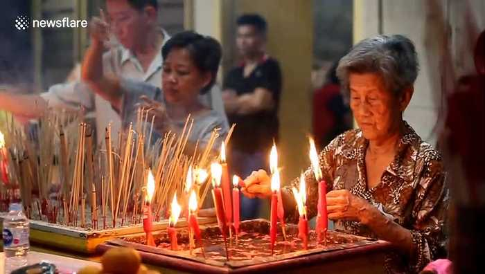 Indonesian monastery rings in Chinese New Year