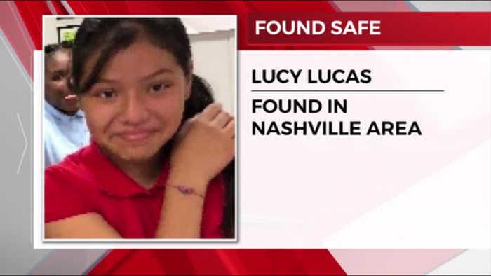 Missing girl found in Nashville