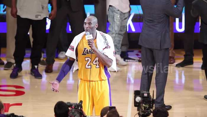 FILE: Global superstar Kobe Bryant dead at 41. Watch his touching farewell to Los Angeles fans in 2016