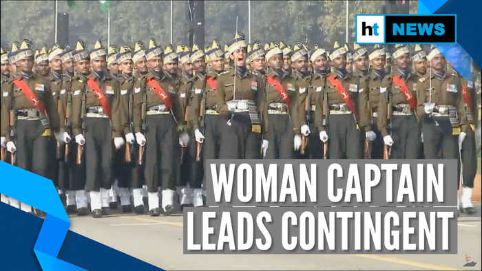 Watch: Captain Tanya Shergill leads all-men marching contingent at Republic Day parade