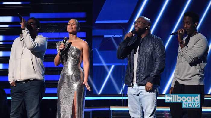 Alicia Keys & Boyz II Men Sing 'It's Hard to Say Goodbye to Yesterday' In Honor of Kobe Bryant   Billboard News