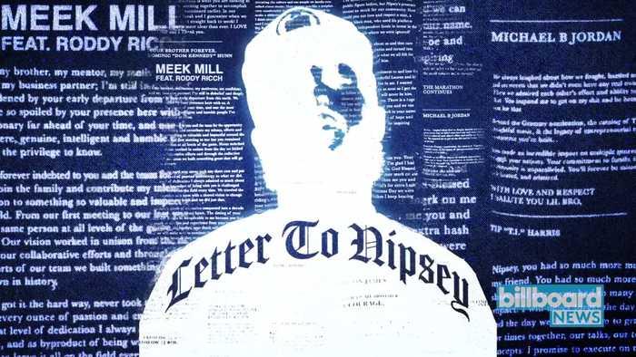Meek Mill's 'Letter to Nipsey' Is Here | Billboard News