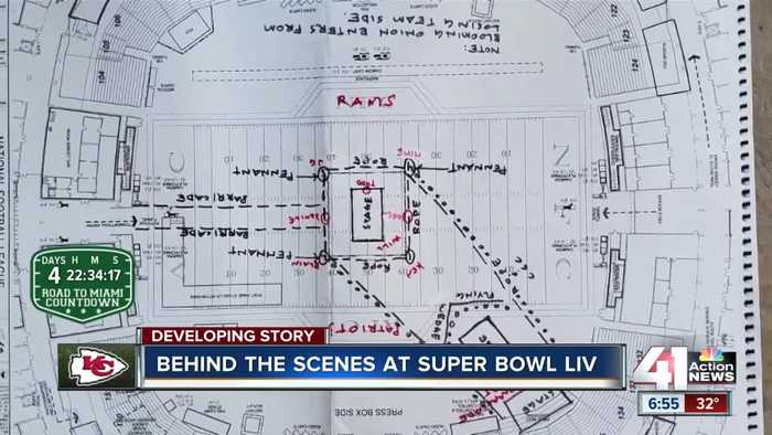 Behind the scenes at Super Bowl LIV