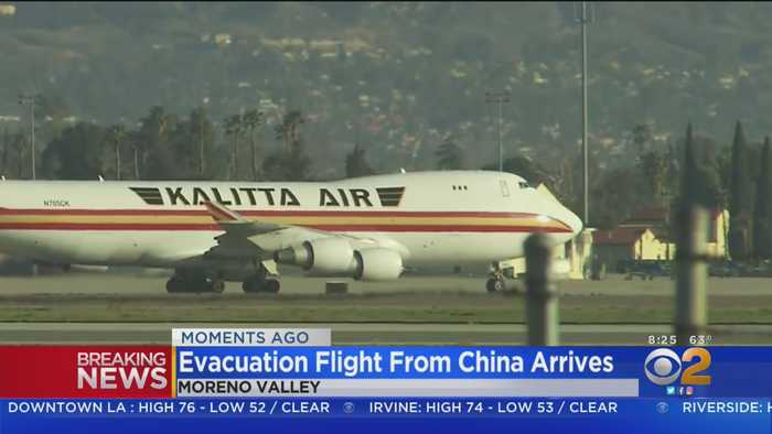 Evacuation Flight From China Arrives At March Air Reserve Base