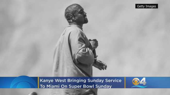 Kanye West Brings Sunday Service To Miami On Super Bowl Sunday