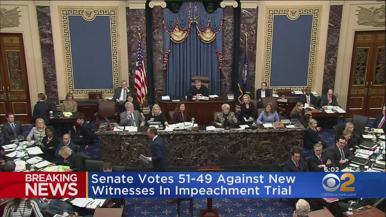 Senate Votes 51-49 Against New Witnesses In Impeachment Trial