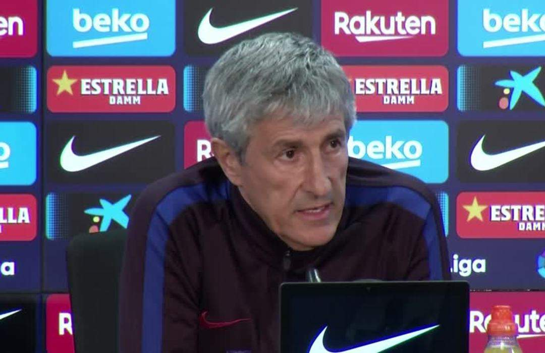 We want to be in the league championship until the end, says Barca's Setien