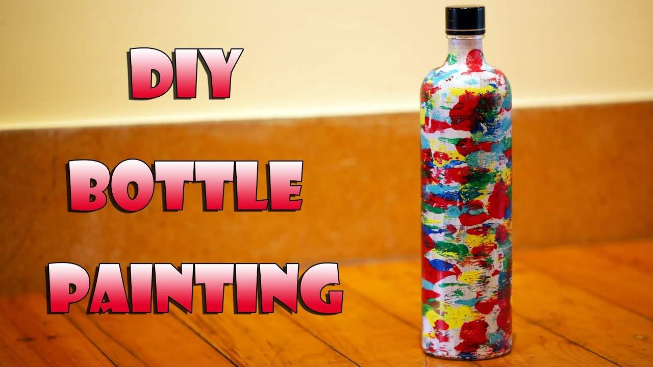 Diy Bottle Painting Bottle Art Room One News Page Video