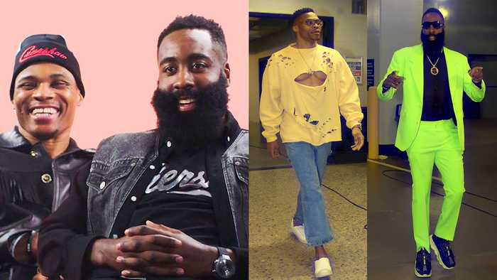 James Harden & Russell Westbrook Break Down Their NBA Tunnel Style