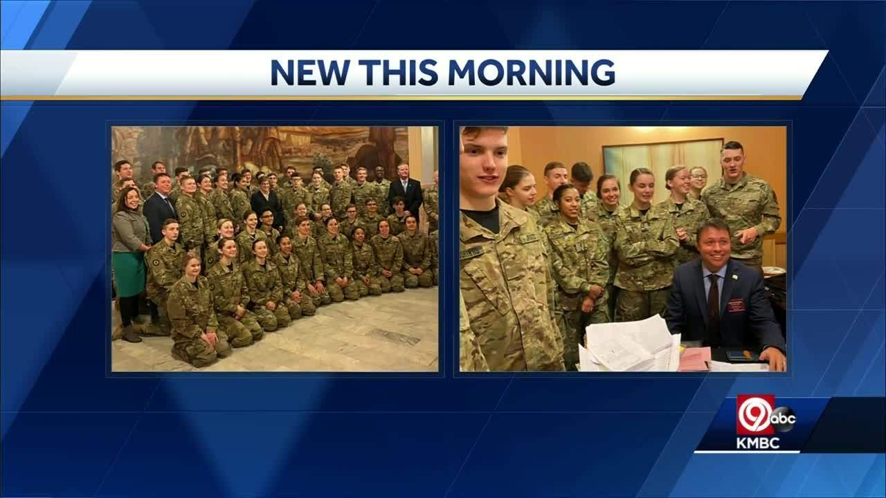 National Champion Leavenworth HS Army JROTC honored at state capitol