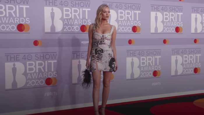 Highlights of this year's red carpet at the Brit Awards 2020