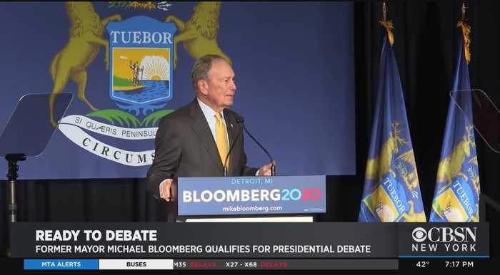 Former Mayor Michael Bloomberg Qualifies For Presidential Debate
