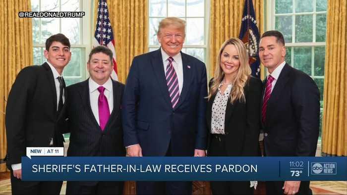 HCSO Sheriff Chronister and Bucs legend Derrick Brooks witness Trump pardon Eddie DeBartolo Jr. at White House