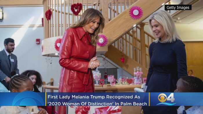 First Lady Melania Trump Recognized As '2020 Woman Of Distinction' In Palm Beach