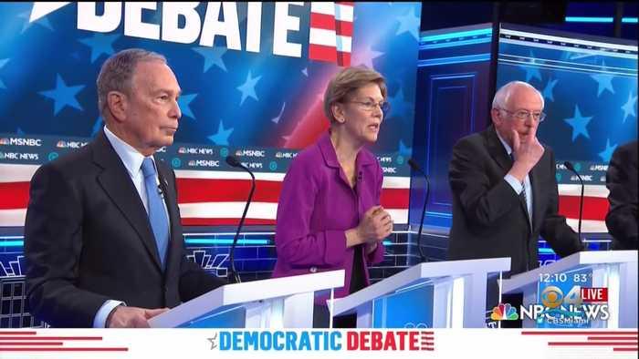 Presidential Debate Focuses On Mike Bloomberg