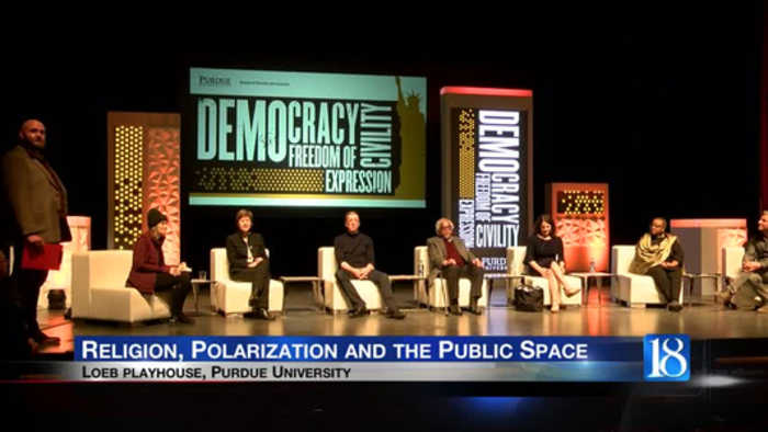 Panelists discuss religion, polarization and the public space at Purdue