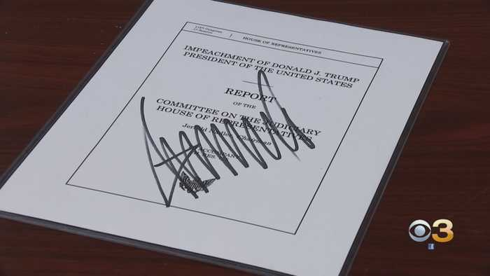 Signed Copy Of Report That Urged Impeachment Of President Donald Trump Auctioned In South Jersey