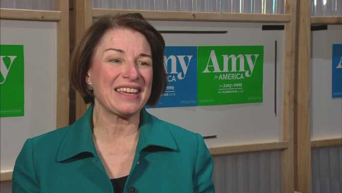 Democratic Presidential Candidate Amy Klobuchar Campaigns In Aurora