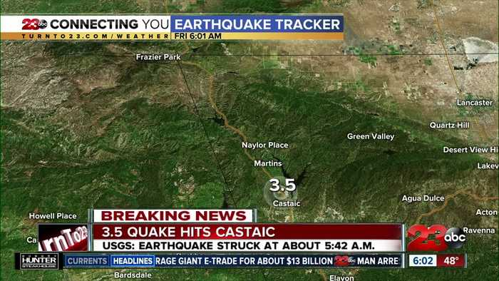 3.5 quake hits Castaic