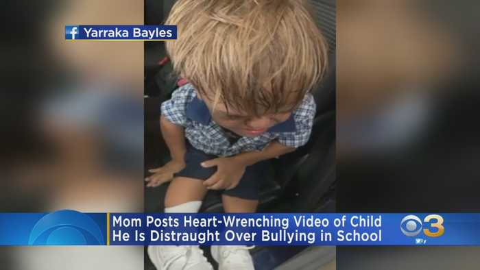 Mom Posts Heart-Wrenching Video Of Child Distraught Over Being Bullied