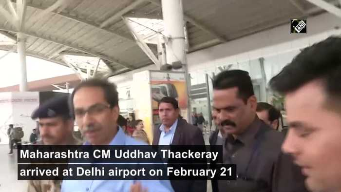 CM Thackeray arrives in Delhi to meet PM Modi Sonia Gandhi