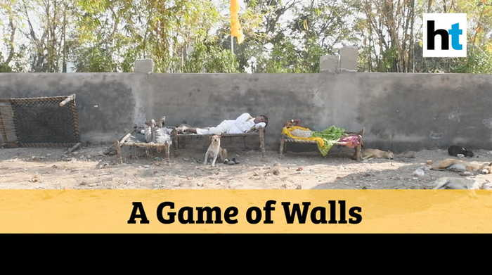 Watch: Ahead of Donald Trump's India visit, wall erected to hide slums