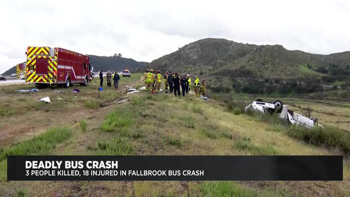 Charter Bus Involved In Deadly Northern San Diego County Crash Owned By El Monte-Based Company