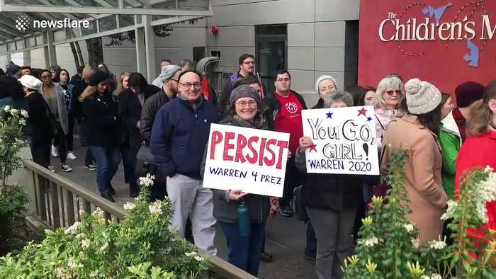 Thousands attend Senator Elizabeth Warren rally at Seattle Center