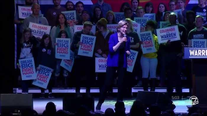 Elizabeth Warren holds rally in Denver ahead of primary
