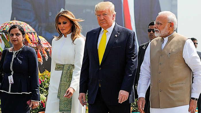 'Political spectatorship': Modi rolls out red carpet for Trump