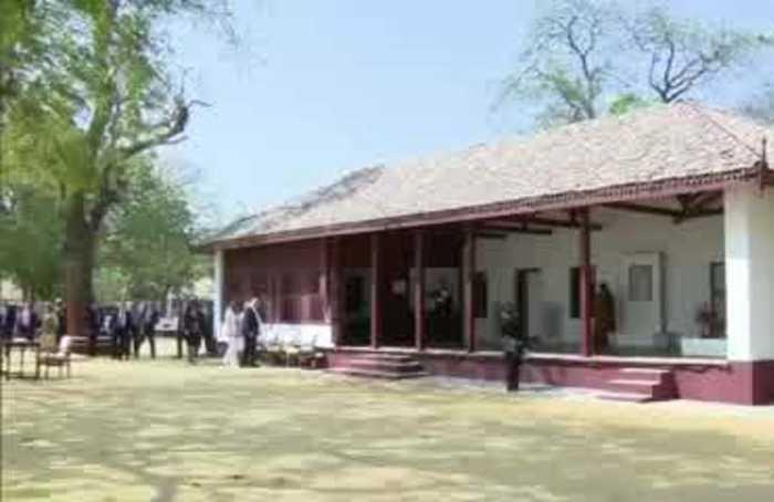 Trump visits Gandhi's former home
