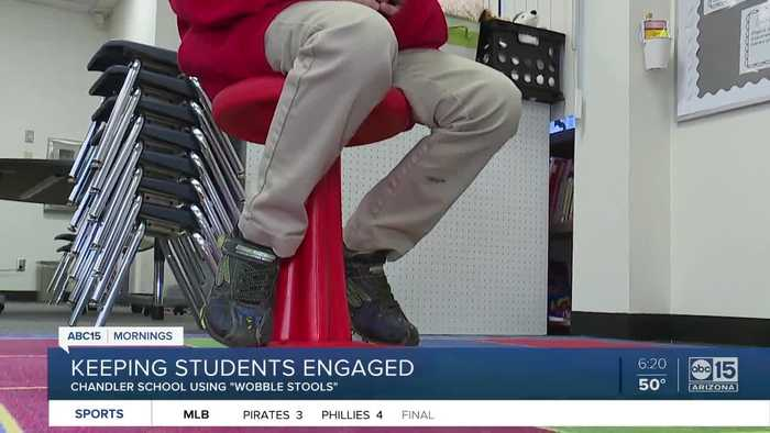 Wobble stools helping kids stay engaged