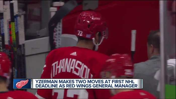Steve Yzerman discusses trades of Green, Athanasiou