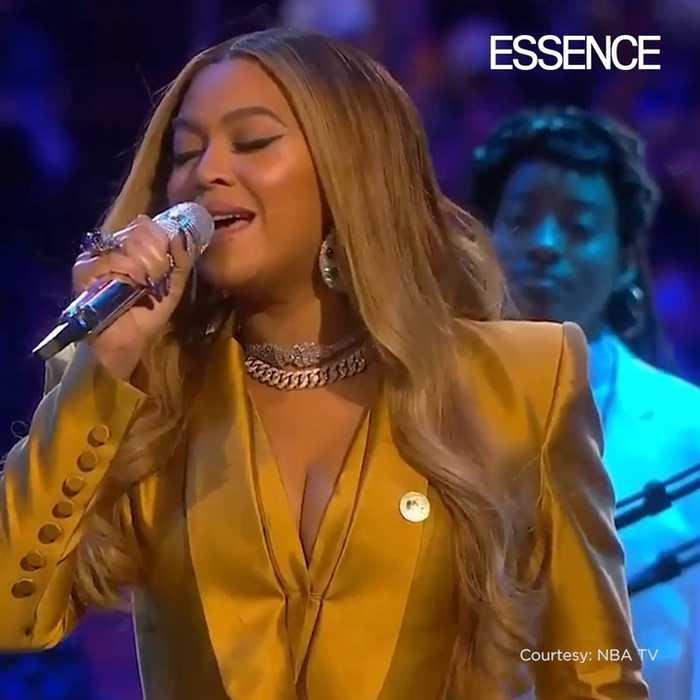 Beyoncé Sings at Kobe and Gianna's Memorial