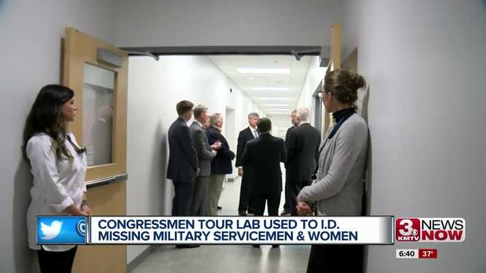 Congressmen tour lab used to I.D. missing military servicemen and women
