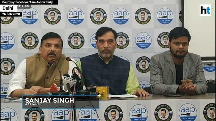Aap Blames Bjp For Delhi Violence