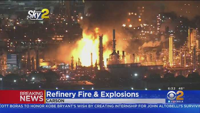 Explosions Lead To Refinery Fire Seen Across Los Angeles