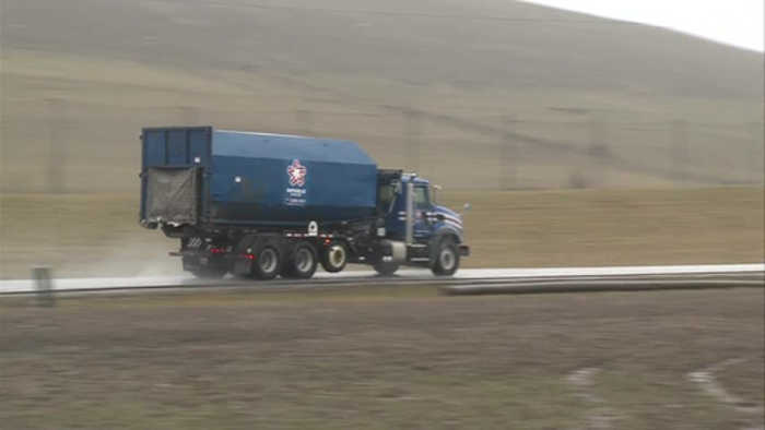 Residents express concern about debris from trash trucks traveling along highway 159