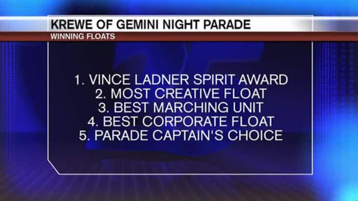 Winning Floats in the Krewe of Gemini Parade