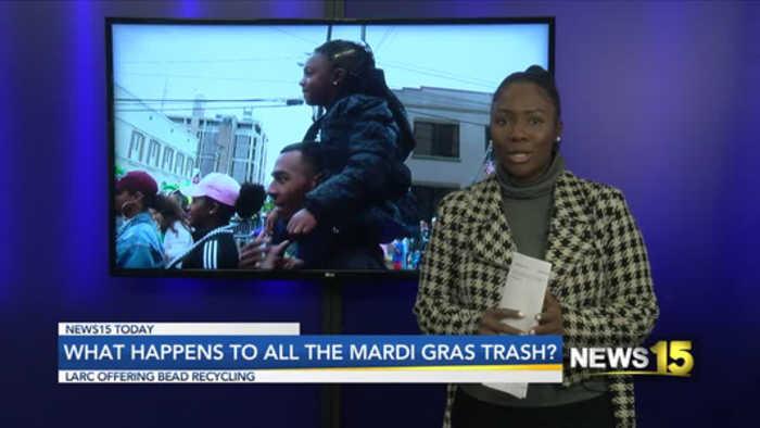 What happens to mardi gras trash?