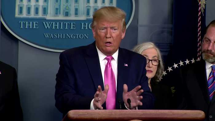 Trump blames stock drop on Democratic candidates, coronavirus