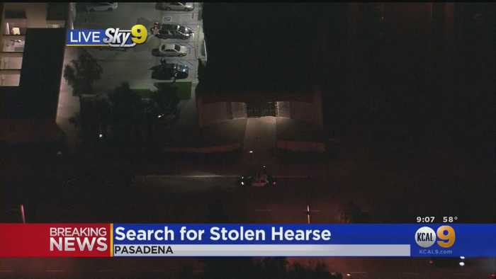 Police Searching For Person Who Stole Hearse With Casket, Body In Back