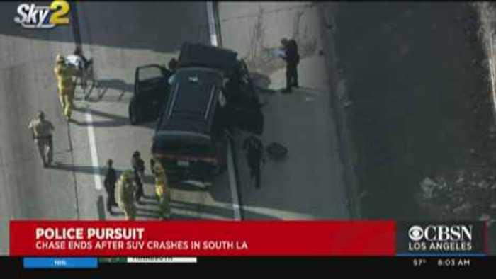 Pursuit With Stolen Hearse Ends In Wreck On LA Freeway; Casket, Body Found Inside