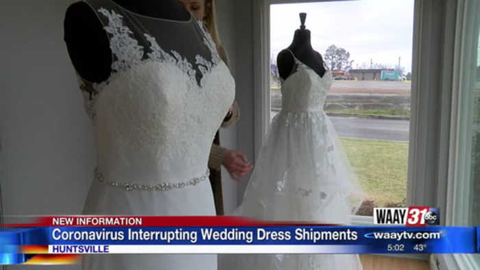 Madison bridal shop: Impact of coronavirus at China dress-making factories 'unknown' at this time