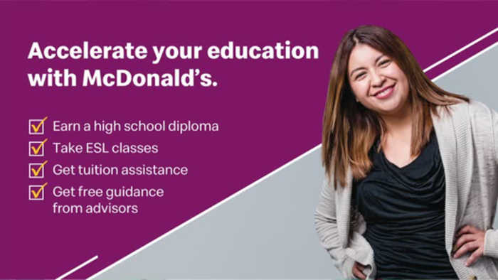 Become part of the McDonald's team during Hiring Week this week.  Earn education benefits and more!